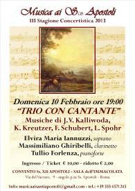 10 Febbraio concerto Roma