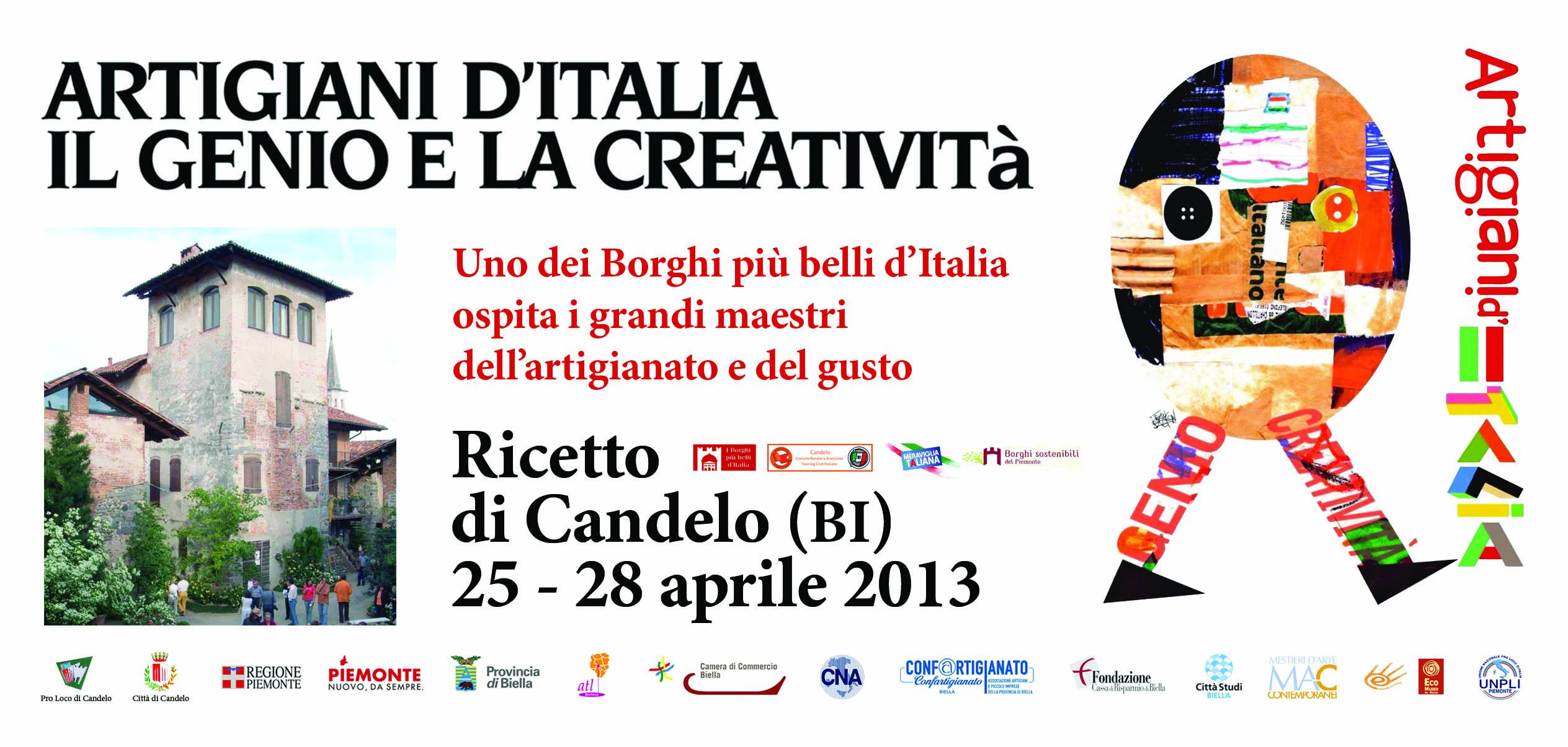Artigiani d italia a ricetto di candelo ad aprile 2013 for Artigianato italia